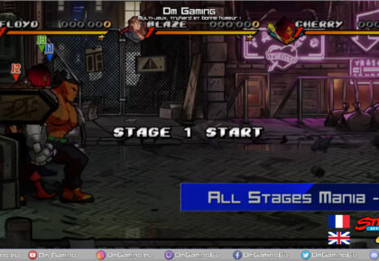 Stages difficulté Mania sur Streets Of Rage 4