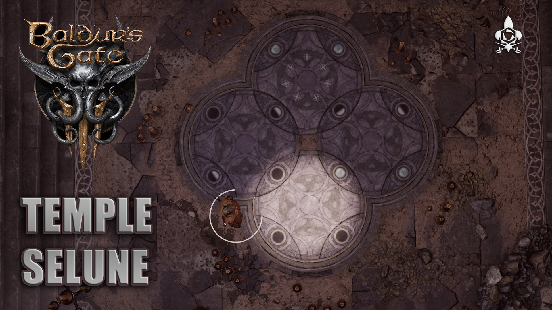 Temple of the Moon) Selune access and solve the puzzle