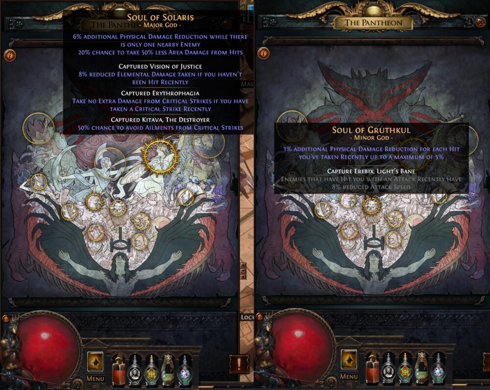 Panthéon Lacerate bleeding SSF viable Path of exile 3.13