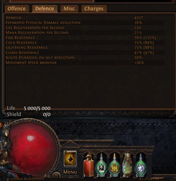 Stats Lacerate bleeding SSF viable Path of exile 3.13