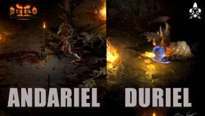 Andariel and Duriel Gameplay Diablo 2 Resurrected Boss
