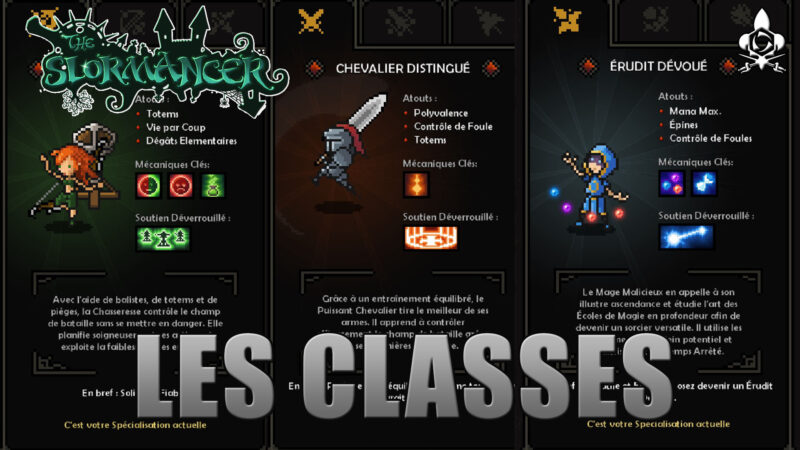 The Slormancer gameplay classes et présentation mage, chasseresse et chevalier