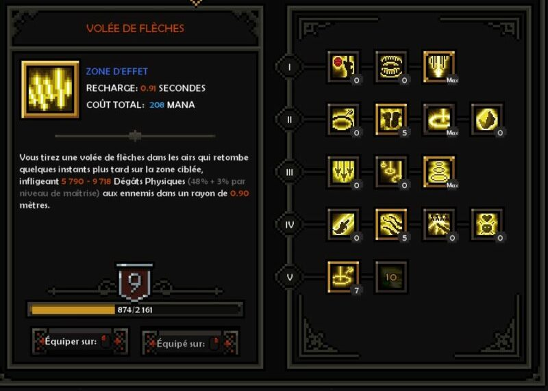 Volée de flèche Build Chasseresse Colère X Speed Farm The Slormancer