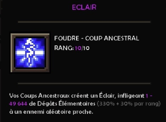 eclair coup ancestral the slormancer