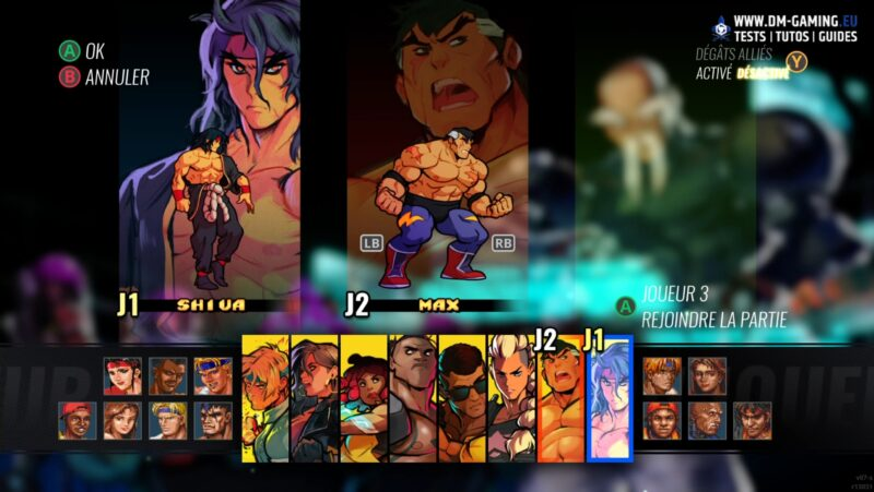 Roster complet DLC Streets of Rage 4 Mr. X Nightmare